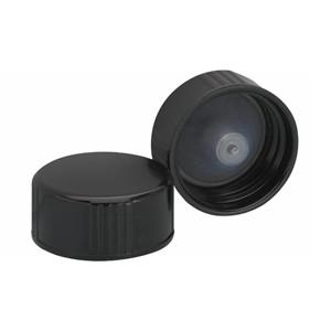 WHEATON® 22-400 Black Cone Lined Caps, case/144