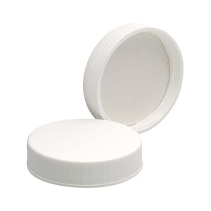 WHEATON® 45-400 PP Caps, White, Foamed Poly Liner, case/72