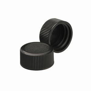 WHEATON® 22-350 Black Phenolic Caps, No Liner, case/500