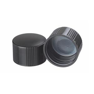 WHEATON® 33-430 Caps, Black, Foam Liner, case/200