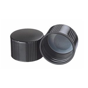 WHEATON® 38-430 Black Phenolic Caps, Poly Liner, case/200