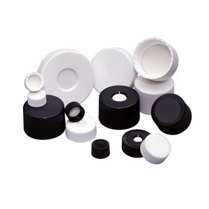 WHEATON® 38-430 Microlink Open Top PP Caps, PTFE/Silicone Liner, case/50