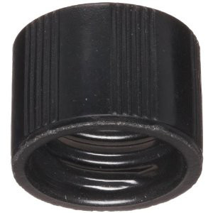 WHEATON® 8-425 Black Phenolic Caps with White Rubber Liner, case/ 1000