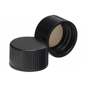 WHEATON® 13-425 Black Phenolic Caps, White Rubber Liner, case/ 200