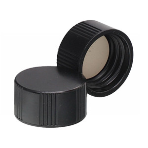 WHEATON® 15-425 Black Phenolic Caps, White Rubber Liner, case/ 200