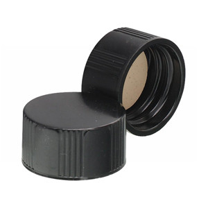 WHEATON® 18-400 Black Phenolic Caps, White Rubber Liner, case/ 500