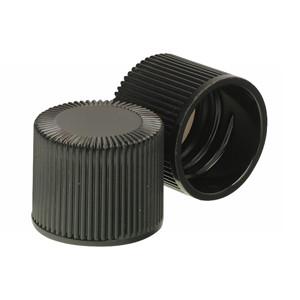 WHEATON® 18-415 Black Phenolic Caps, White Rubber Liner, case/ 500