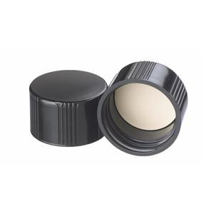 WHEATON® 33-430 Black Phenolic Caps, White Rubber Liner, case/ 200