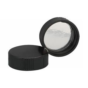 WHEATON(R) 58-400 Black Phenolic Caps, Foil Liner, case/200