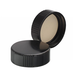 WHEATON® 33-400 Black Phenolic Caps, PTFE Liner, case/100