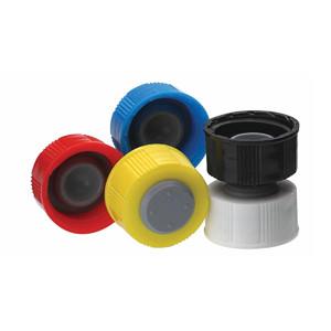 WHEATON(R) 20-400 I-Loc Cap, PP, Black, case/100