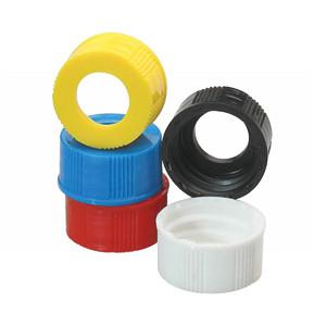 WHEATON® 20-400 Open Top Hole PP Caps, Unlined, case/300