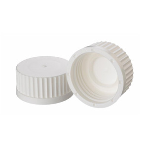 WHEATON® 45mm PP Caps, White, Inner-Seal, case/12