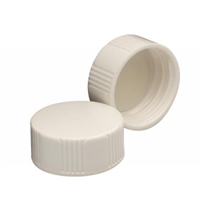 WHEATON® 24-400 Caps, White Thermoset with Polyethylene Disc, case/1000