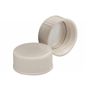 WHEATON® 22-400 Caps, White Thermoset with Foil Liner, case/1000