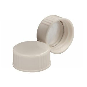 WHEATON® 24-400 Caps, White Thermoset with Foil Liner, case/1000
