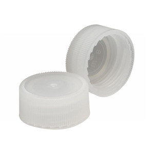 WHEATON® 22-400 Caps, Natural Polyethylene, Unlined, case/1000