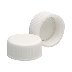 WHEATON® 20-410 PP Caps, White, Foamed Poly Liner, case/200