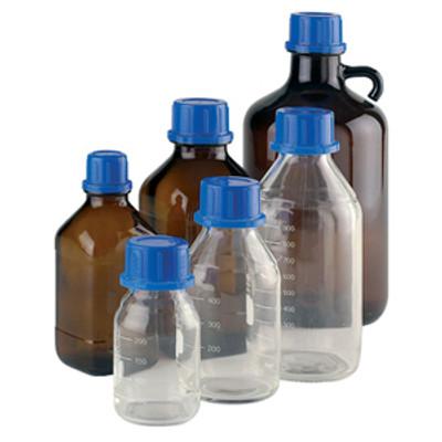 WHEATON(R) 2500mL Amber Glass Bottle, 45mm neck finish
