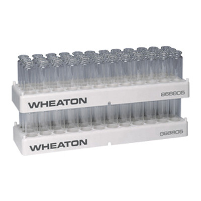 WHEATON® 36 Position Polypropylene Vial Rack, 23.1mm Diameter Holes, case/5