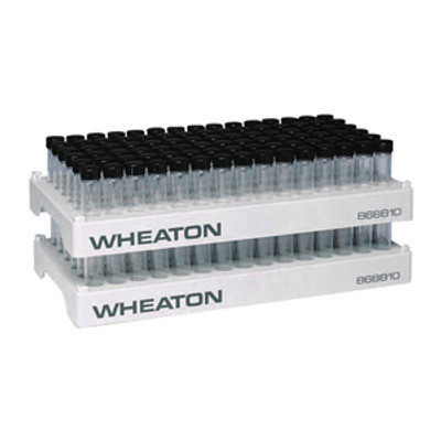 WHEATON® Vial Rack, 17.1mm Open ID, 90-Position, PP, case/5