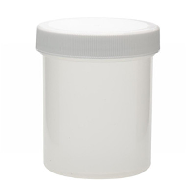 WHEATON® 125mL Polypropylene Jar, Polyethylene Foam Lined Cap, case/36