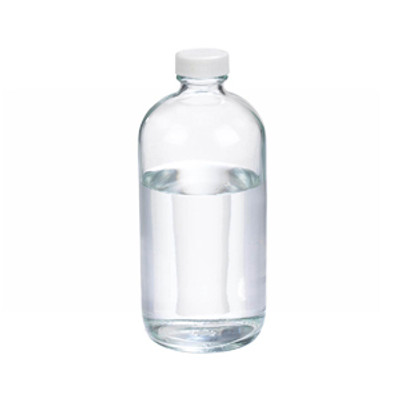 WHEATON® 16 oz Glass Boston Round Bottles, Vinyl Lined PP Caps, case/12