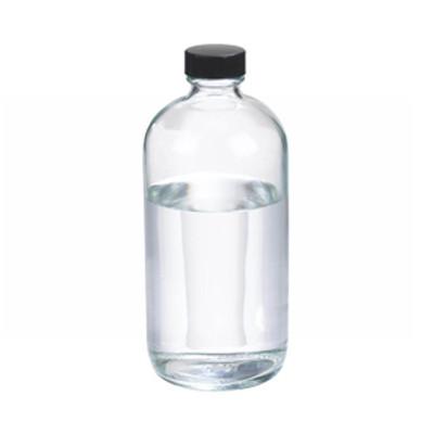 WHEATON(R) 16 oz Glass Boston Round Bottles, Polyethylene Cone Lined Caps, case/12