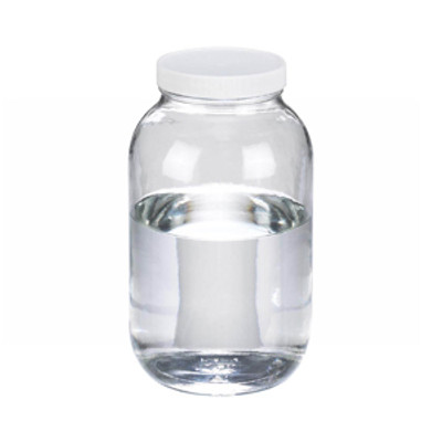 WHEATON® 65 oz Clear Glass Wide Mouth Packer Bottles, PTFE Lined PP Caps, case/6
