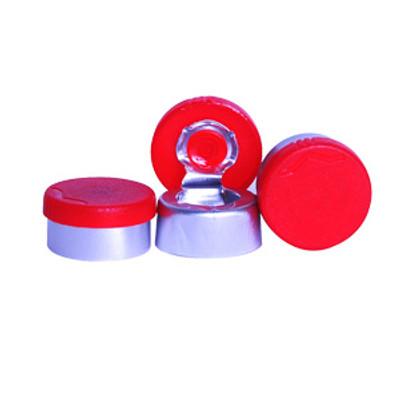 WHEATON® 13mm Aluminum Seal, Flip Tear Off, Red, case/1000