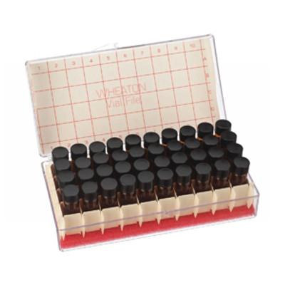 WHEATON® 4mL Amber Vials File, 13-425, PTFE /Rubber Lined, case/40