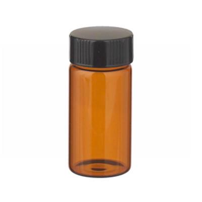 WHEATON® 20mL Amber Vials in a box, Rubber Lined Caps, case/72