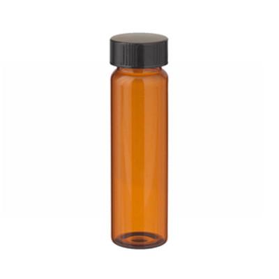 WHEATON® 40mL Amber Vials in a box, Rubber Lined Caps, case/72