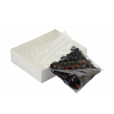 WHEATON® 12X32 Clear Glass Vials, Black Cap, PTFE/Silicone/PTFE, case/100