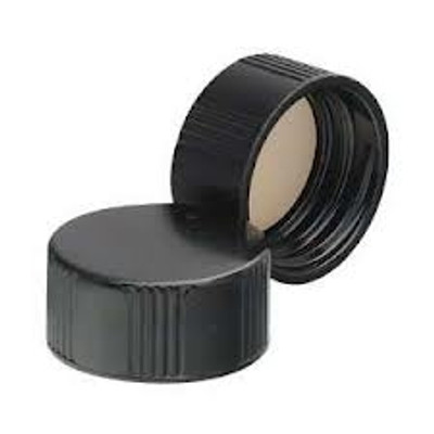WHEATON® 20-400 Black Phenolic Caps, 14B Rubber Liner, case/144