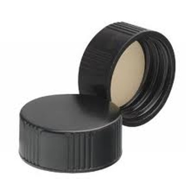 WHEATON® 22-400 Black Phenolic Caps, 14B Rubber Liner, case/144