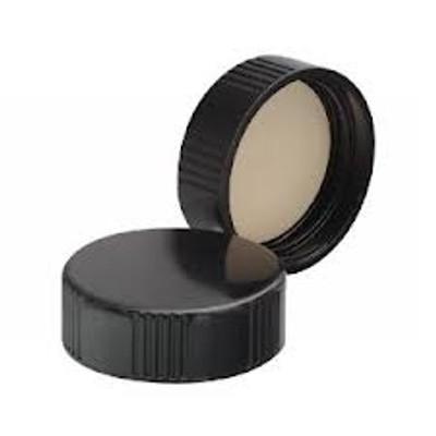 WHEATON® 33-400 Black Phenolic Caps, 14B Rubber Liner, case/144