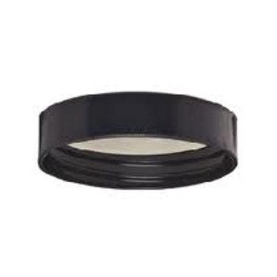 WHEATON® 48-400 Black Phenolic Caps, 14B Rubber Liner, case/72