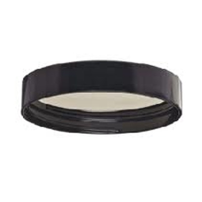 WHEATON® 58-400 Black Phenolic Caps, 14B Rubber Liner, case/72