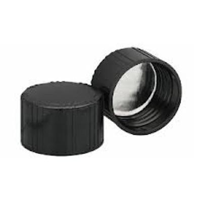 WHEATON® 38-439 Black Phenolic Caps, Foil Faced Pulp Liner, case/200