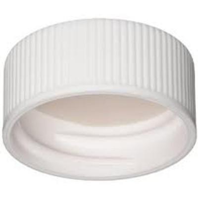 WHEATON® 24-400 PP Caps, White, PTFE/Silicone Liner .060, case/100