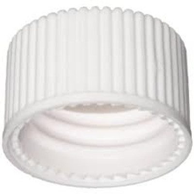 WHEATON® 15-425 Open Top PP Cap, White, PTFE/Silicone Liner .060, case/250
