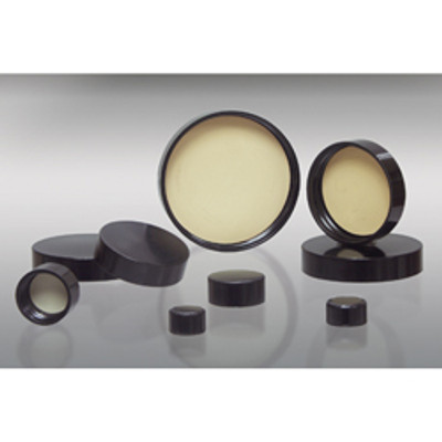 48-400 Black Phenolic Cap with 14B Rubber Liner, Autoclavable, Each