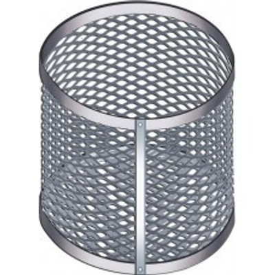 "Aluminum Test Tube Clean & Dip Basket, Round Tip, Epoxy-Coated, 10"" x 9"""