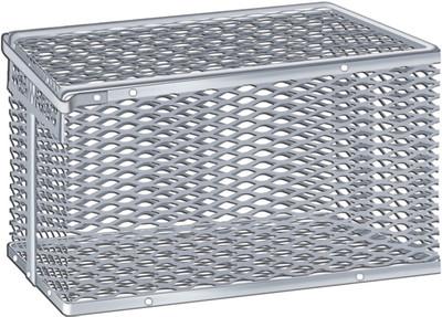 "Aluminum Tilt-Cover Test Tube & Lab Ware Storage Basket, 12.9"" x 9"" x 7"""
