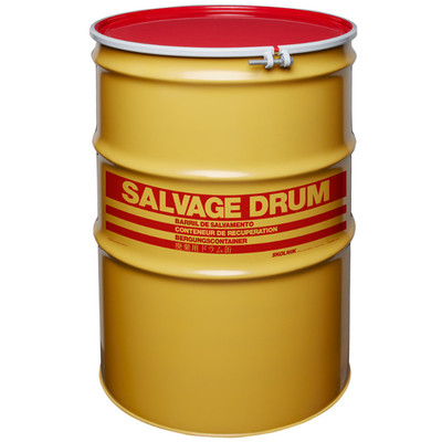 110 gal Salvage Drum, Bolt Ring Closure