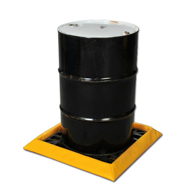 """Eagle® 1 Drum SpillNest Spill Containment with Grate, 32.25"""", 10 Gal, Yellow"""