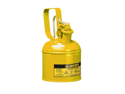 Justrite® 10111 1 Quart Steel Safety Can, Yellow