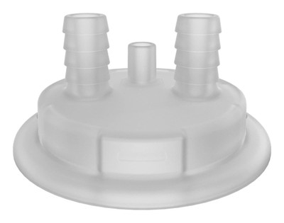 """VersaCap Adapter Insert, Molded In Barbs, 83B (2) 1/2"""" Barb with Vent"""