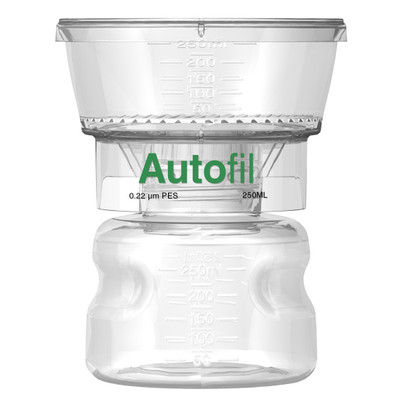 Autofil Bottle Top Vacuum Filter Assembly, 250ml, 0.2um PES, Case/12